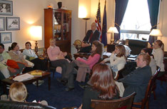 High School students meet with Congressional Representatives