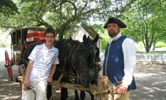 Middle School students learn in Colonial Williamsburg